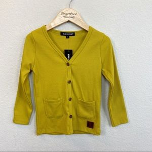 Other - Beau Hudson Mustard Yellow Ribbed Cardigan NWT